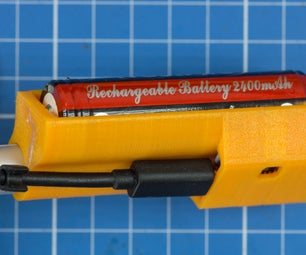 How to Integrate Wires Into 3D-Prints to Build a 18650 Battery Charger