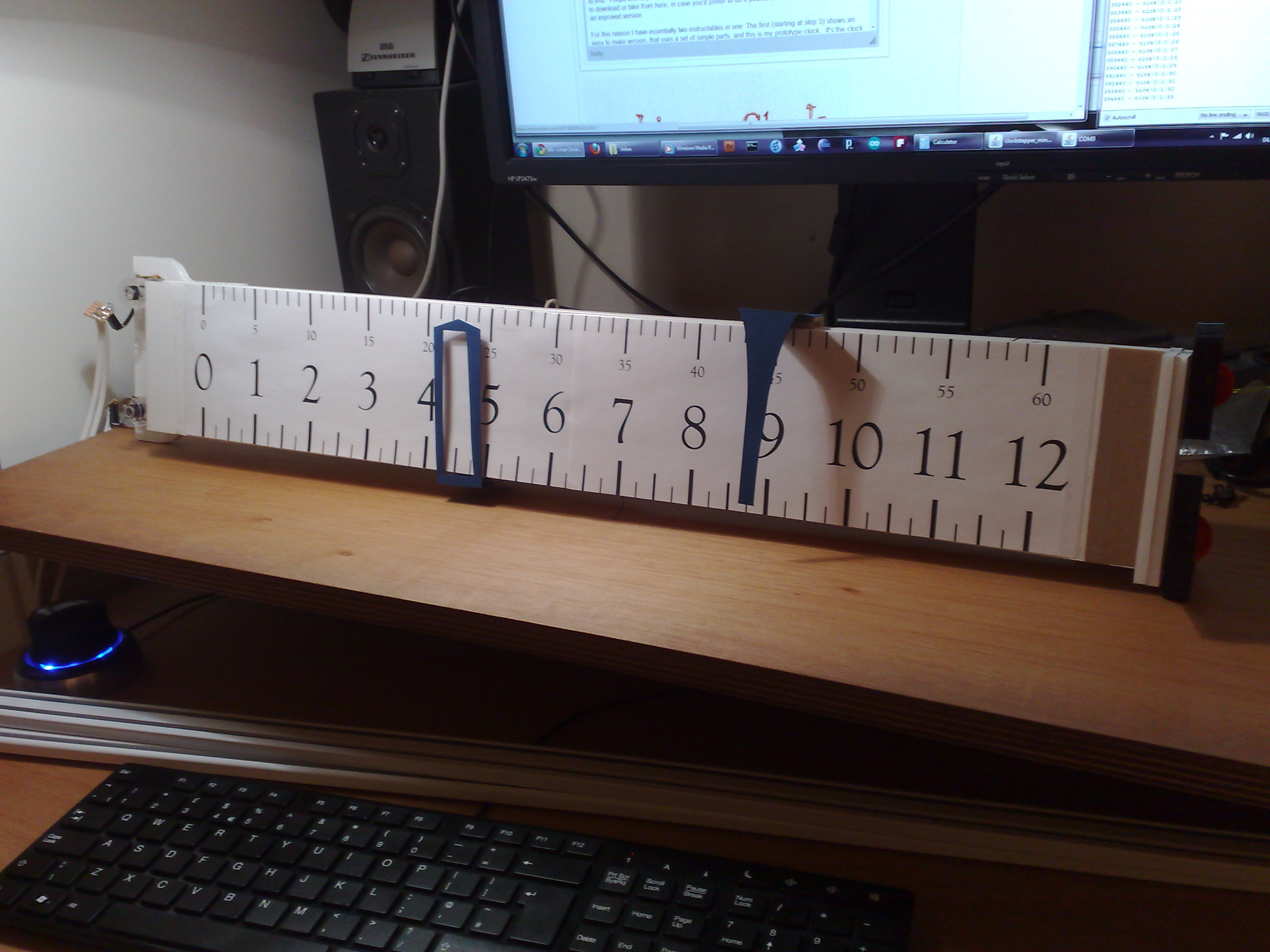 Picture of Prototype Clock - Indicators and Faces and Finish!!