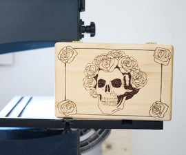 Grateful Dead woodburned box
