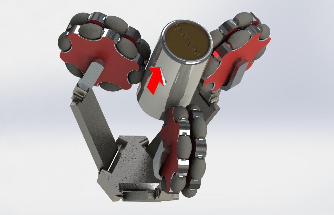 Picture of Omni Wheel Robot Gripper Mechanism (Concept)