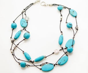 Turquoise Clay Bead Necklace