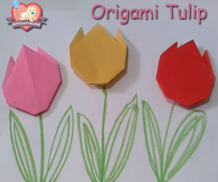 Origami Tulip | 583x700