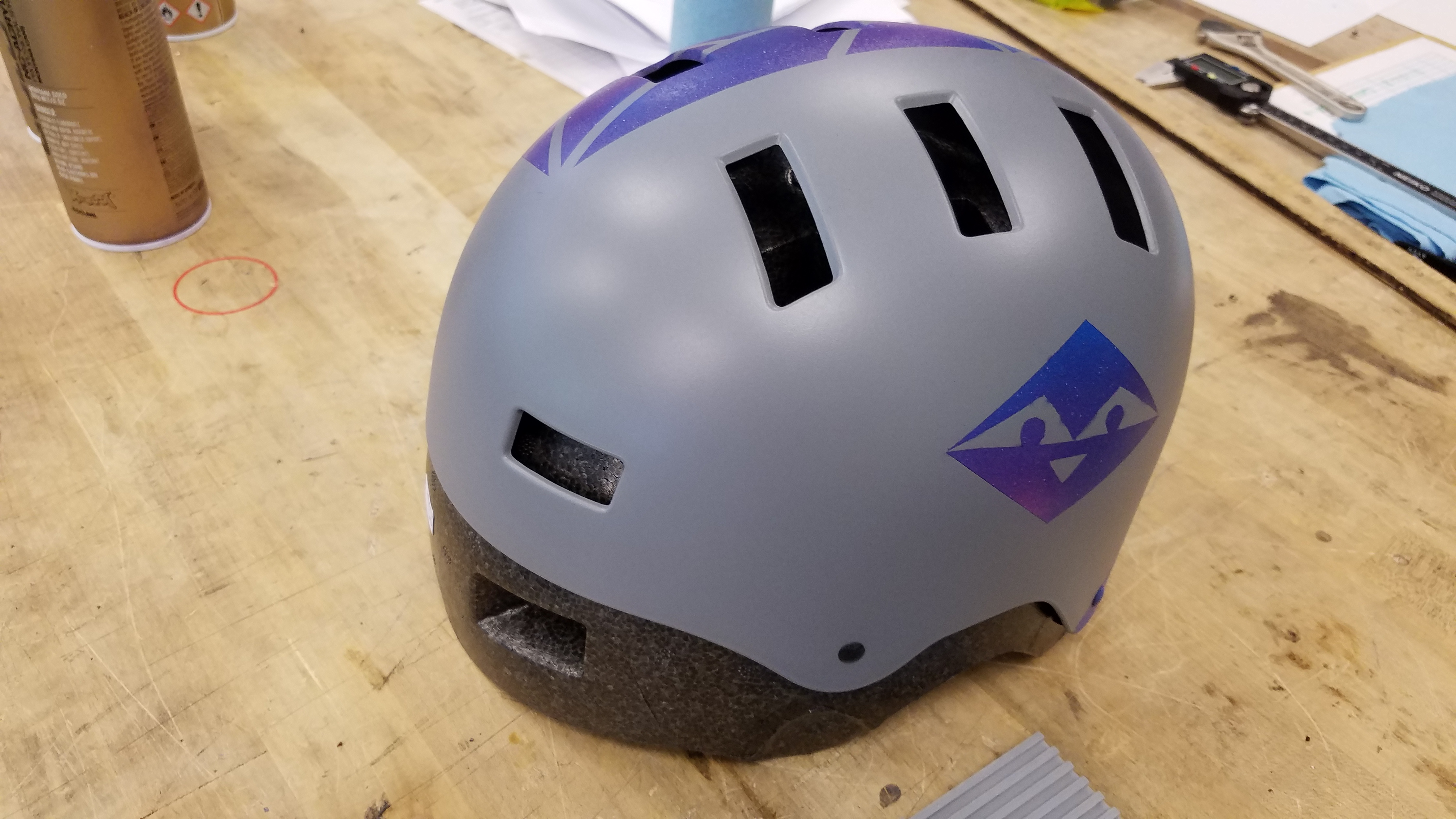 Picture of Remove Foam Lining From Helmet.