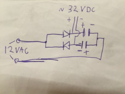 Simple 12VAC to 32VDC LED Driver