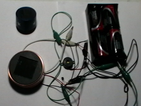 Picture of Light Detector / Alarm Using a Solar Lawn Light