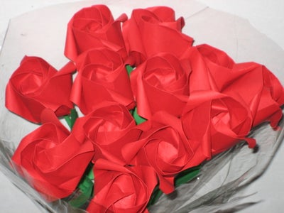A Dozen Red Origami Roses : 6 Steps (with Pictures) - Instructables