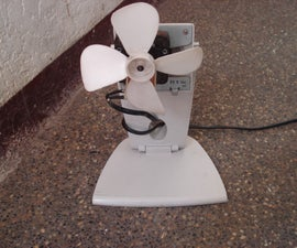 Build  a small Electric Fan from a scrap microwave oven