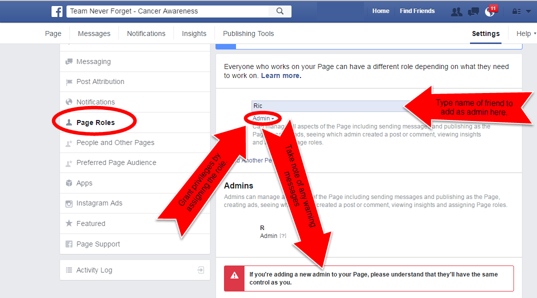 Picture of How to Grant Admin Privileges to a Custom Facebook Page