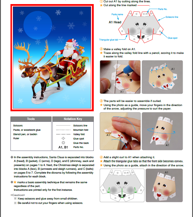 Picture of Making Santa Claus 3D Model (reindeer – Sled – Santa Claus )