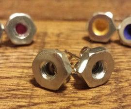 Hexagonal Nut Earrings