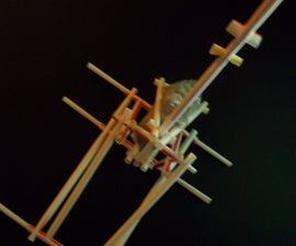 Trebuchet Catapult Using Only Fast Food Straws - Straw Builder Project #3