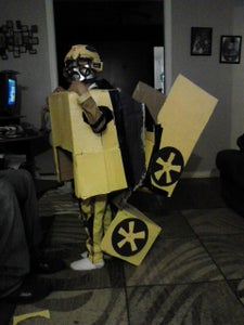Transforming  Optimus Prime and Bumblee Bee Costumes 2011