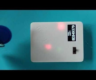 Simple RFID Scanner Battery Powered (MiFare, MFRC522, Oled, Lipo, TP4056)