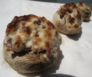 Cream Cheese and Bacon Stuffed Mushrooms