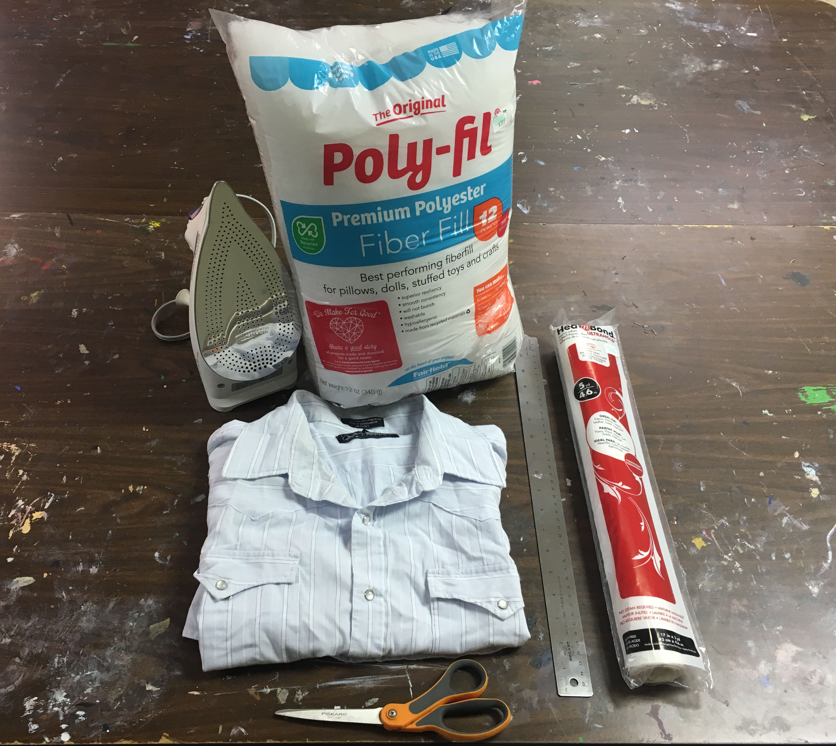 Picture of How to Make a No-Sew Button Down Shirt Pillow