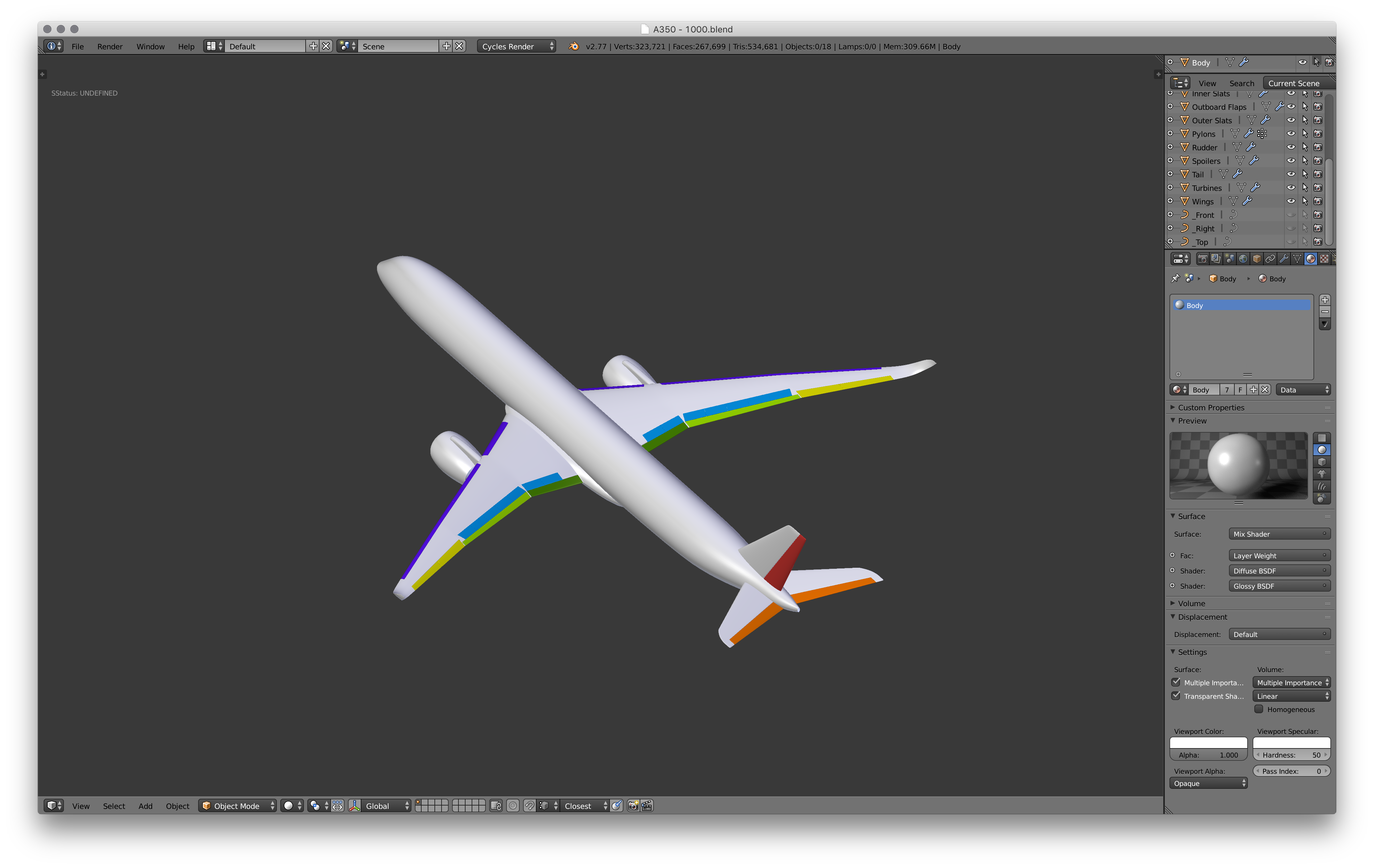 Picture of The Completed Flight Surfaces