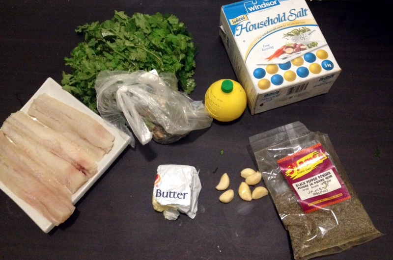 Picture of Ingredients for Lemon Butter Baked Tilapia