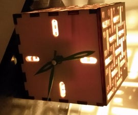 A clock with a lamp