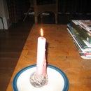 Halloween bleeding candle