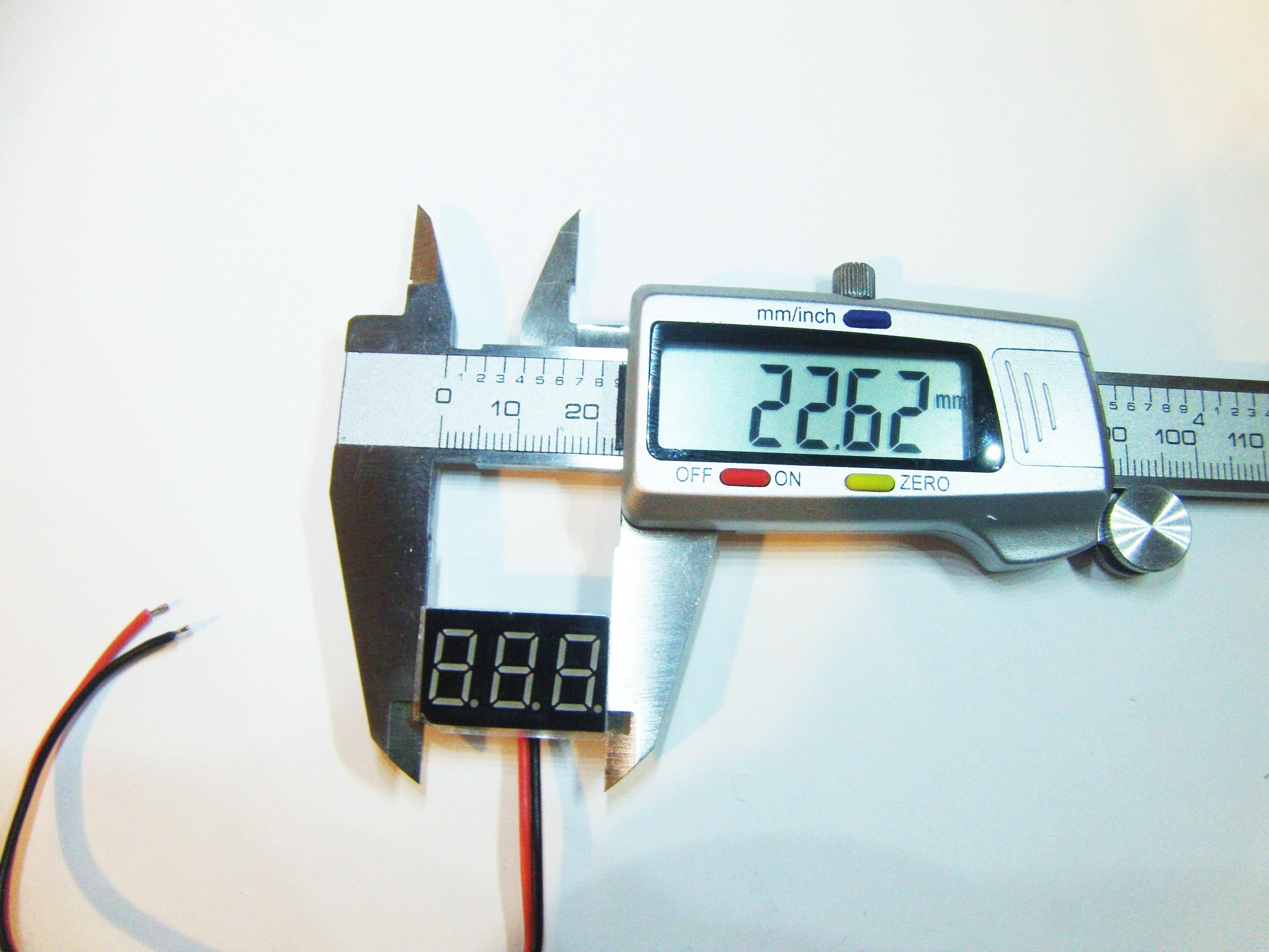 Picture of Fitting the Voltmeter and Reverse Polarity Warning LED.