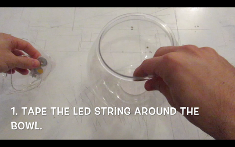 Tape Down the LED String