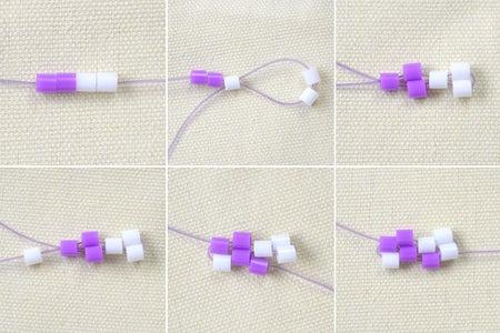 Make the Basic Pattern of the Perler Bead Bracelet Tutorial