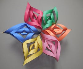 How to Make a Hanging Paper Floret