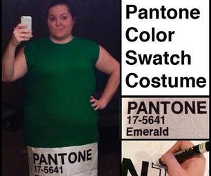 Pantone Color Swatch Costume
