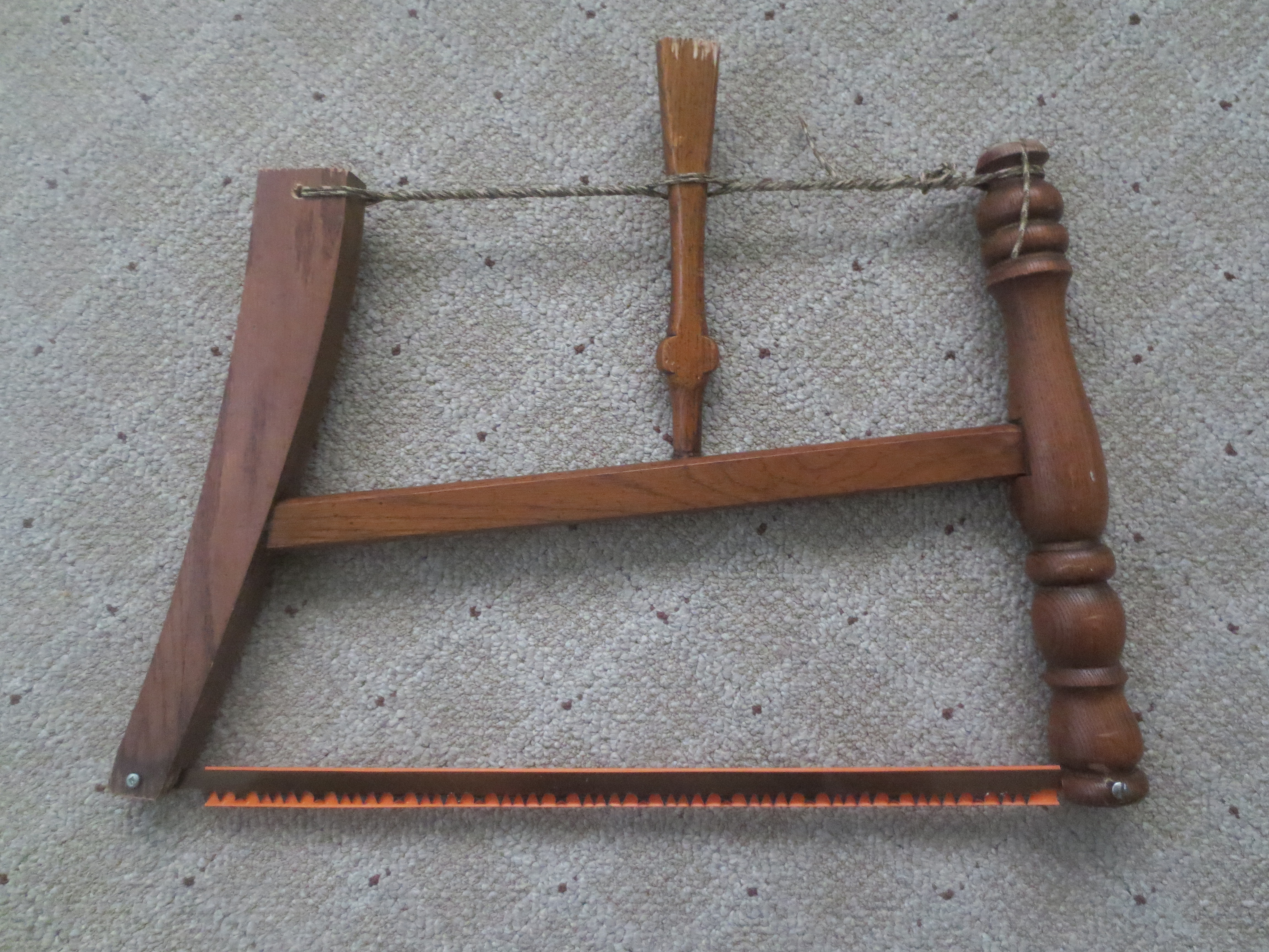 Picture of Emergency Bow Saw Made With a Swiss Army Knife From a Discarded Chair