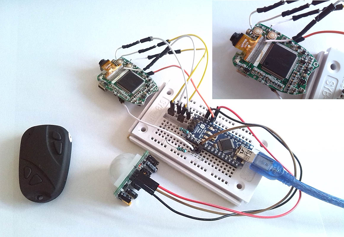 Picture of Arduino Keychain Camera Modify to Motion Detect Camera