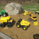 Tonka Truck RC Conversion With Dump and 4WS Quad Steering