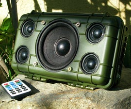DIY Tough Bluetooth Boombox (Lasts 20hrs!)