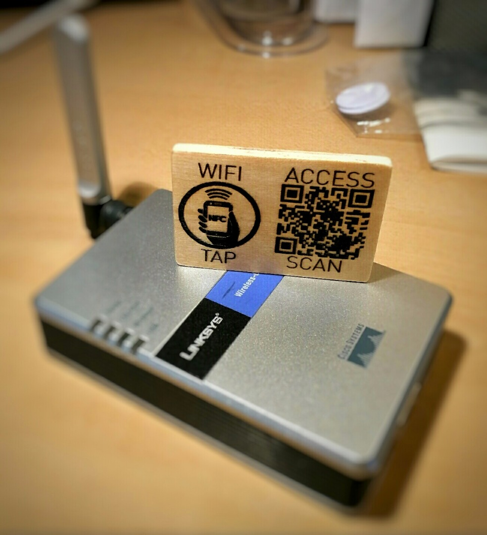 Picture of Laser Engraved QR & NFC WiFi Access Card