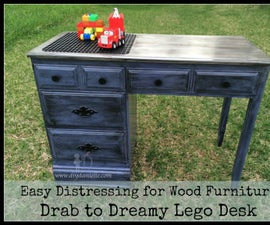 Fabulous Distressed Lego Desk: How To