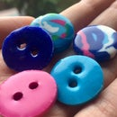 Buttons Using PLA Waste From 3D Printing