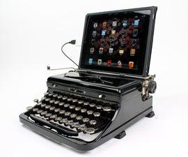 Typewriter iPad Stand