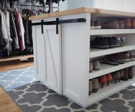 4-sided Island for a Walk-in Closet