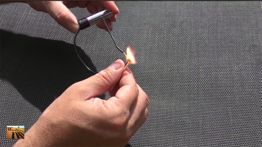 Light a Match With a Battery