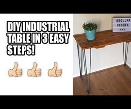 Industrial Table With Hairpin Legs