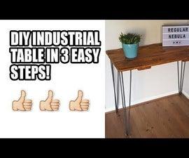 工业桌与发夹腿