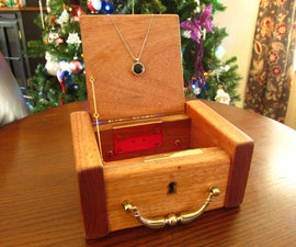 Antique Jewelry Box and Pendant