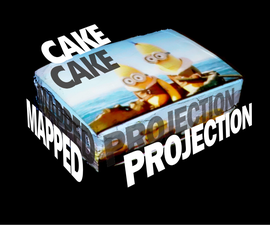 Projection Mapped Cake