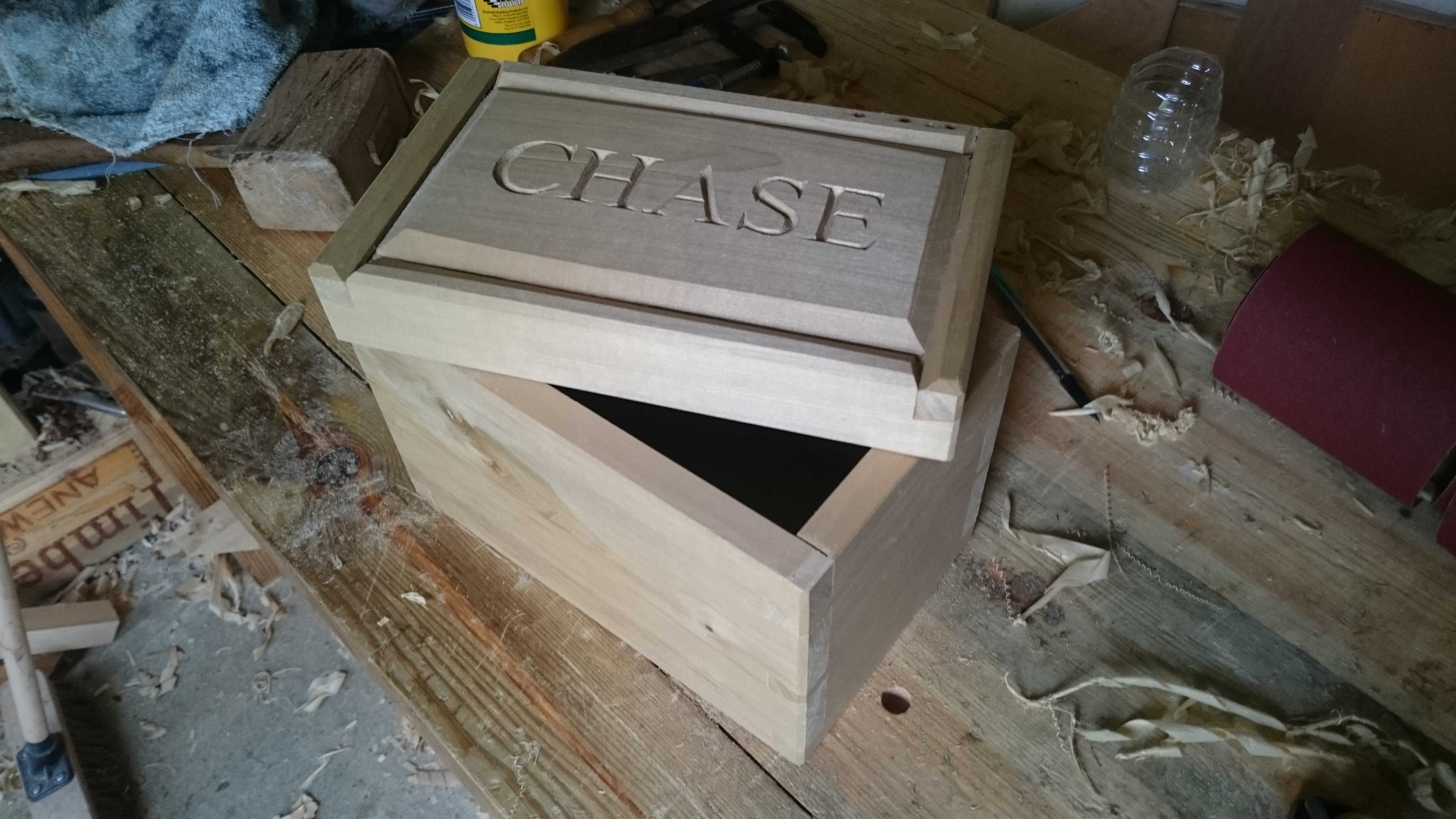 Picture of Gluing the Box and Cutting the Lid