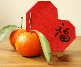 Heart-shaped Ang Pao (Chinese Red Envelope)