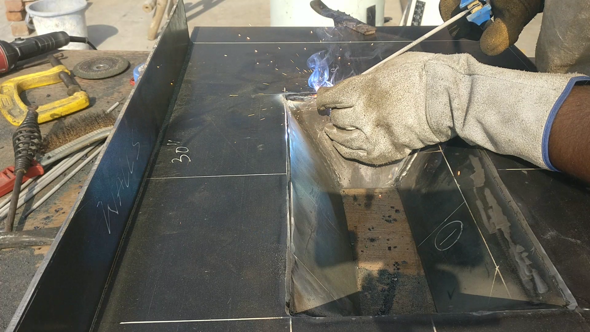 Picture of ​Welding the  Pit and Creating the Forge Boundaries.