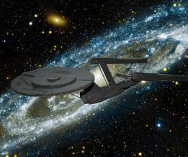 USS Enterprise using 123D Make