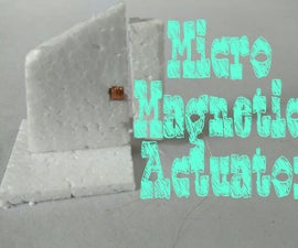 Micro Magnetic Actuator for Rudder/Aileron Control.