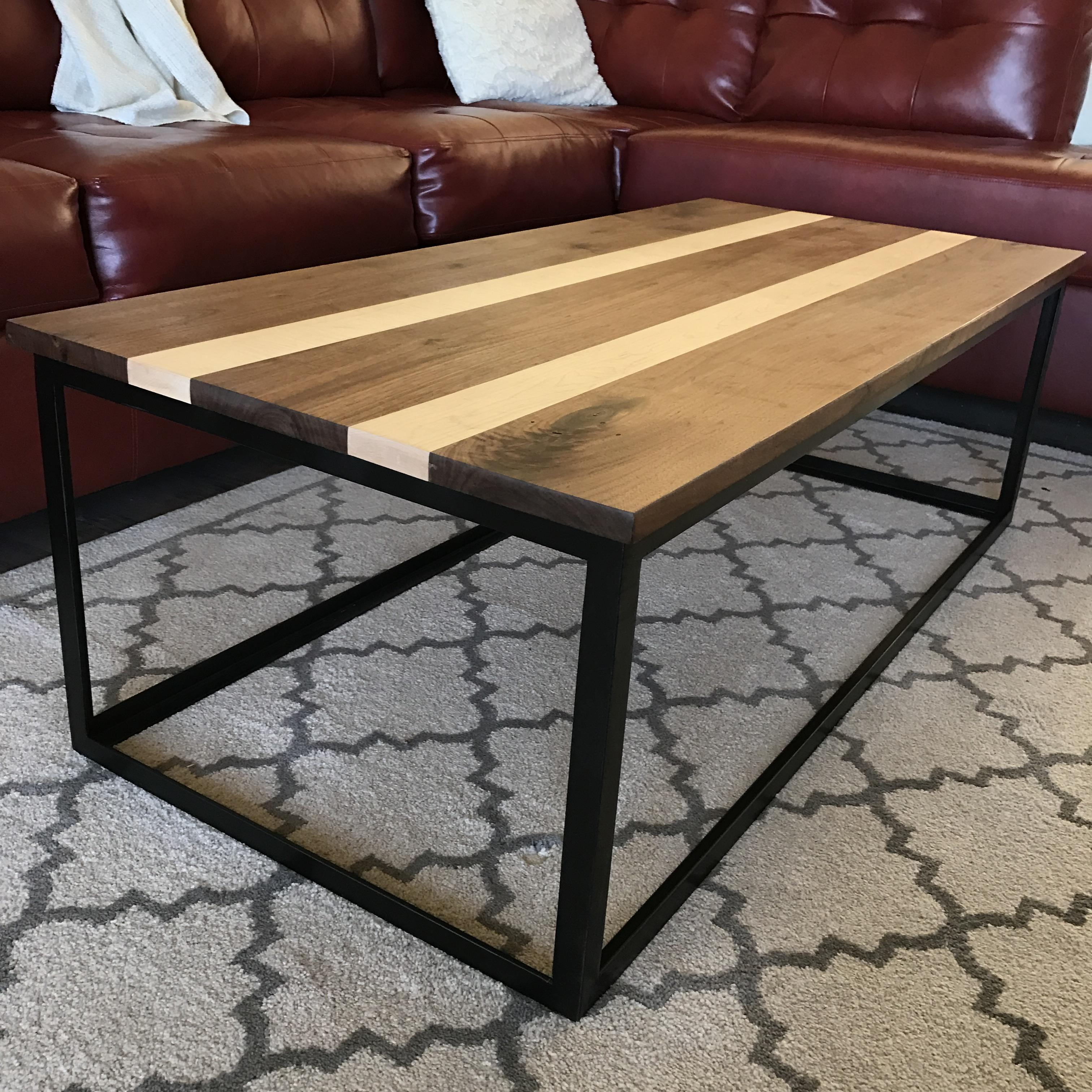Picture of Coffee Table - Walnut, Maple and Steel