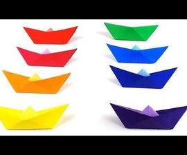 Origami Rainbow Boats