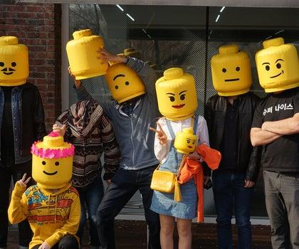 Lego Man Head Mask